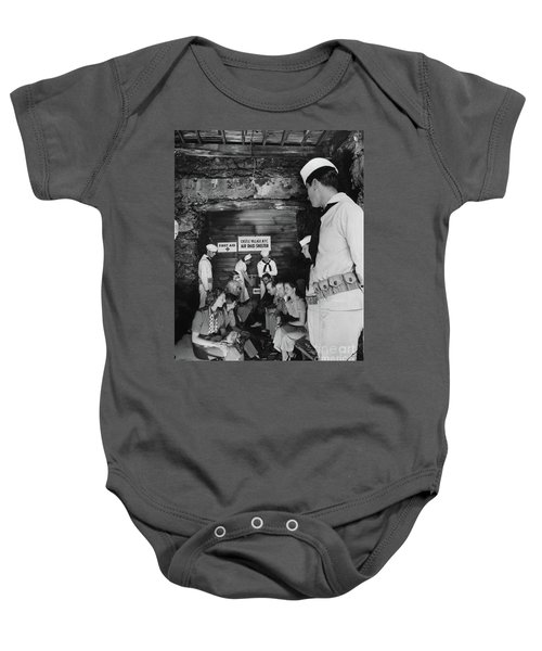 Castle Village Air Raid Shelter Baby Onesie by Cole Thompson