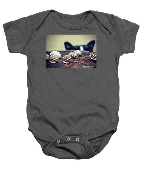Cat Snails Baby Onesie