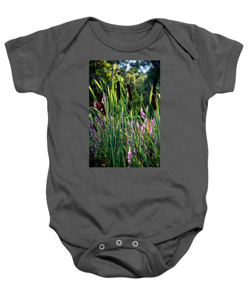 Cat Tails In The Morning Baby Onesie