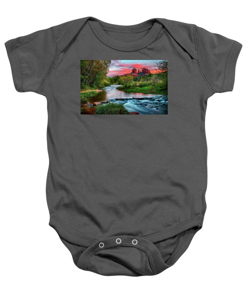 Cathedral At Sunset Baby Onesie