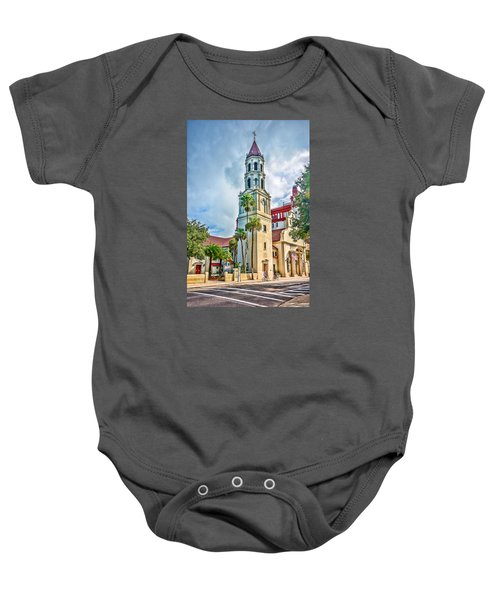 Baby Onesie featuring the photograph Cathedral Basilica by Anthony Baatz