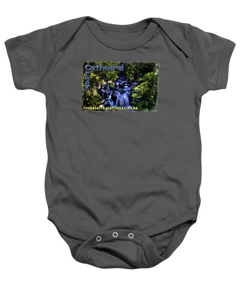 Cathedral Creek Cascade On The Tioga Pass Baby Onesie by Roger Passman