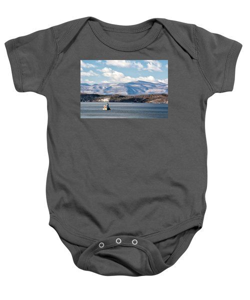 Catskill Mountains With Lighthouse Baby Onesie