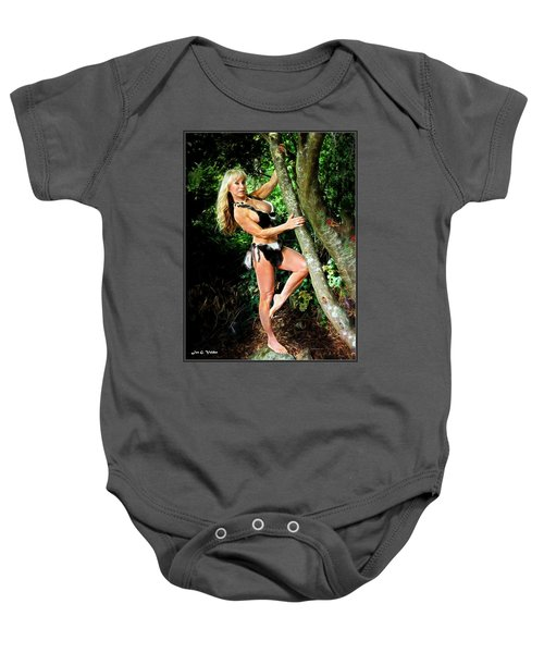 Cave Girl In The Forest Baby Onesie