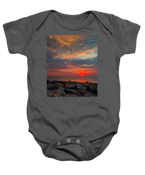 Cedar Point Sunrise Baby Onesie