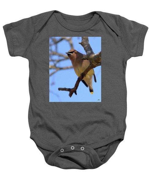Cedar Waxwing Baby Onesie