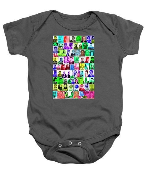 Celebrity Mugshots Baby Onesie by Jon Neidert