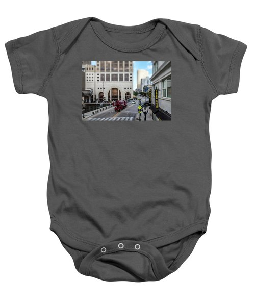Cement Truck In The Itty-bitty-city Baby Onesie