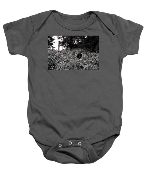 Cemetery In Red Baby Onesie