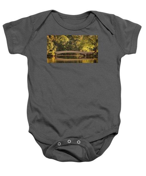 Central Park Bridge Baby Onesie