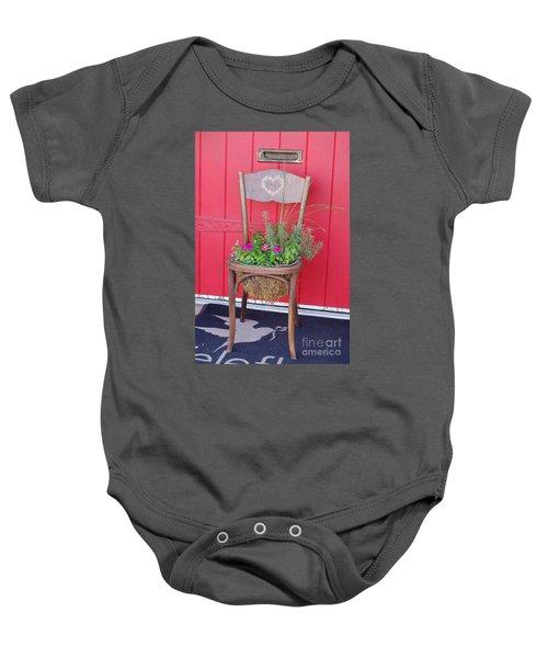 Chair Planter Baby Onesie