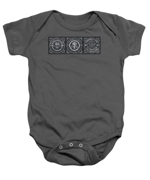 Chalkboard French Cheese Labels Baby Onesie