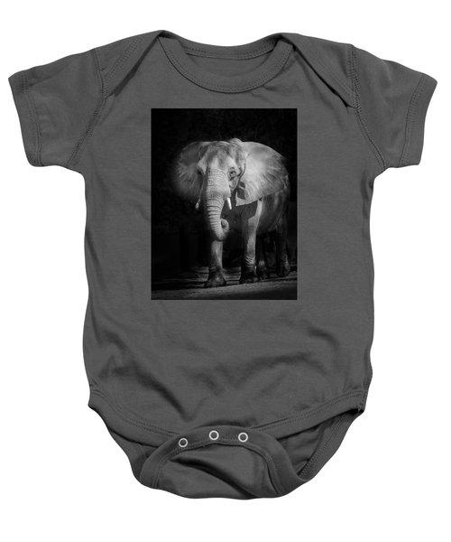 Charging Elephant Baby Onesie