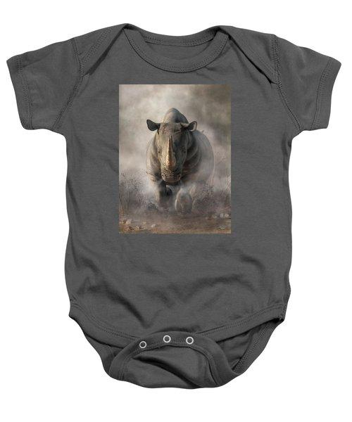 Charging Rhino Baby Onesie