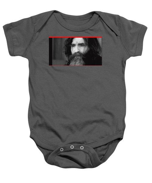 Charles Manson Screen Capture Circa 1970-2015 Baby Onesie