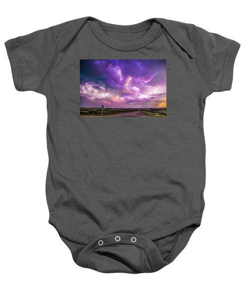 Chasing Nebraska Lightning 056 Baby Onesie