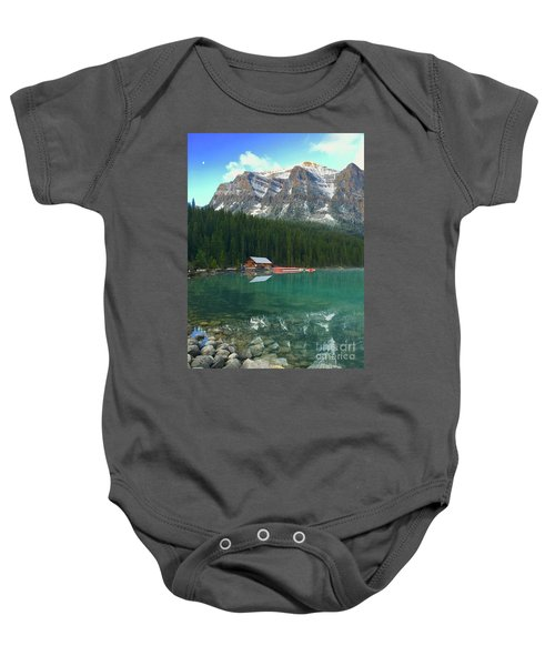 Chateau Boat House Baby Onesie