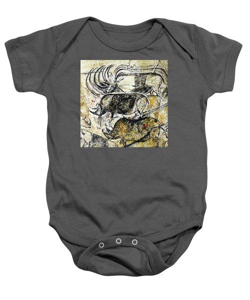 Chauvet Three Rhinoceros Baby Onesie