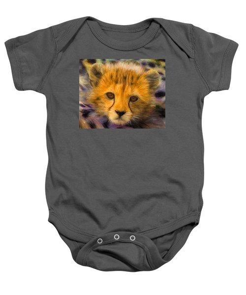 Cheetah Cub Baby Onesie