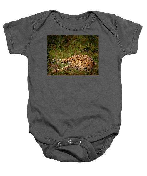 Cheetah Resting, Masai-mara Baby Onesie