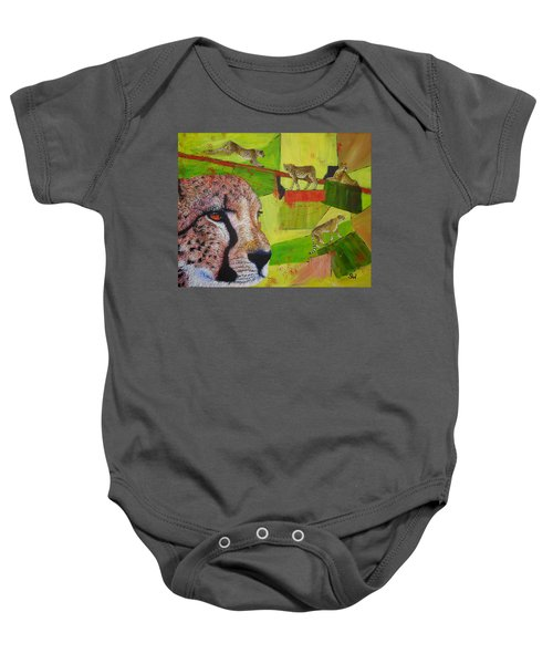 Cheetahs At Play Baby Onesie