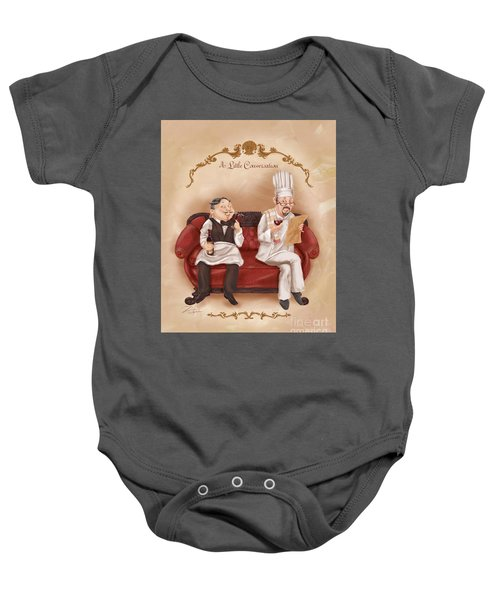 Chefs On A Break-a Little Conversation Baby Onesie