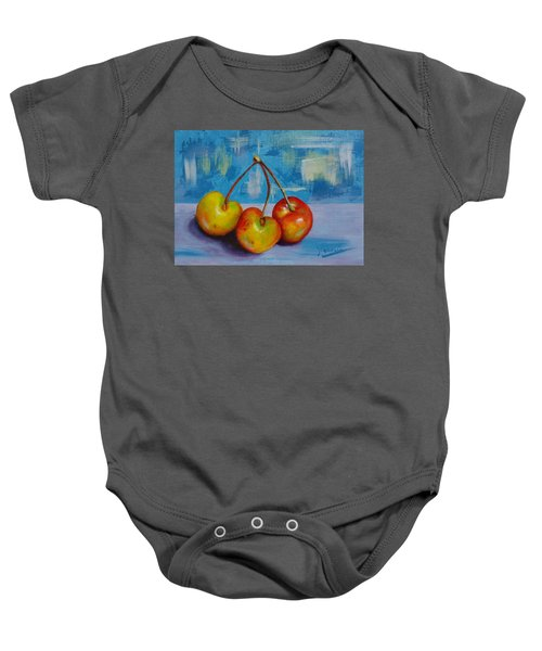 Cherries Trio Baby Onesie