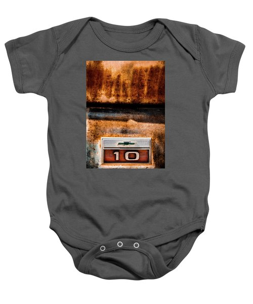 Chevy C10 Rusted Emblem Baby Onesie