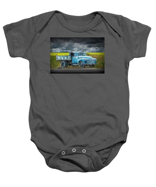 Chevy Truck Stranded By The Side Of The Road Baby Onesie