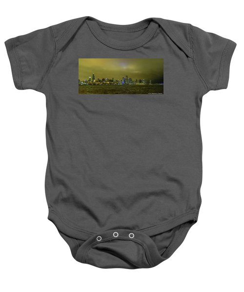 Chicago Skyline Baby Onesie
