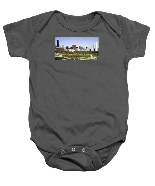 Chicago- The Windy City Baby Onesie by Ricky L Jones