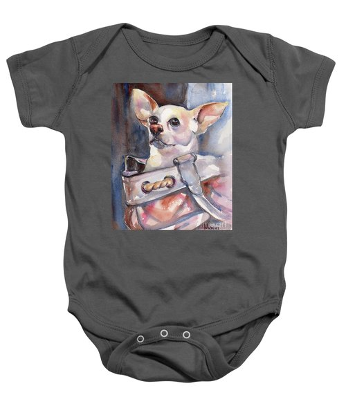 Chihuahua Baby Onesie by Maria's Watercolor