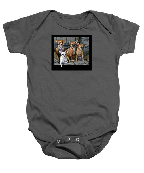 Chihuahuas Hanging Out Baby Onesie