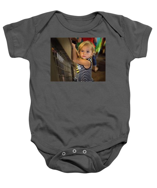 Baby Onesie featuring the photograph Child In The Light by Bill Pevlor
