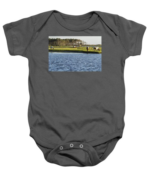 Chincoteague Ponies On Assateague Island Baby Onesie