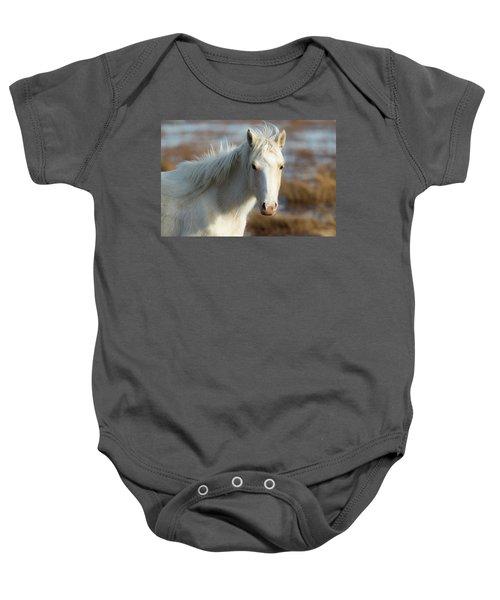 Chincoteague White Pony Baby Onesie
