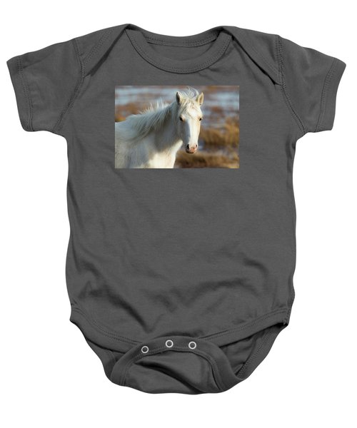 Chincoteague White Pony Baby Onesie