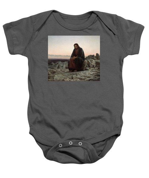Christ In The Desert Baby Onesie