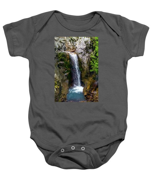 Christine Falls Mt Rainier Baby Onesie