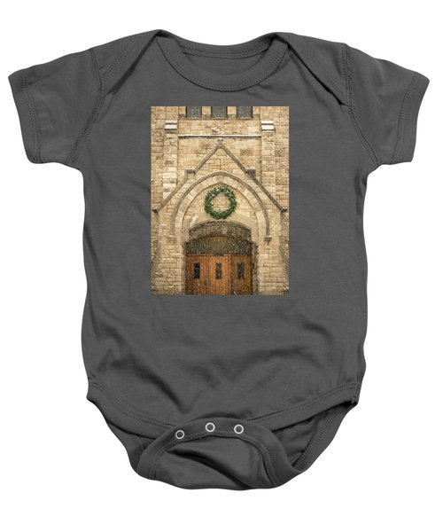 Christmas At Stone Chapel Baby Onesie