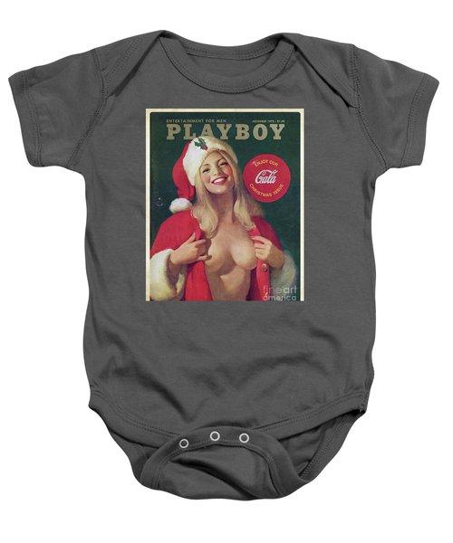 Christmas Playboy Vintage Cover Baby Onesie