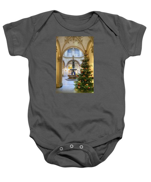 Christmas Tree In Ferstel Passage Vienna Baby Onesie