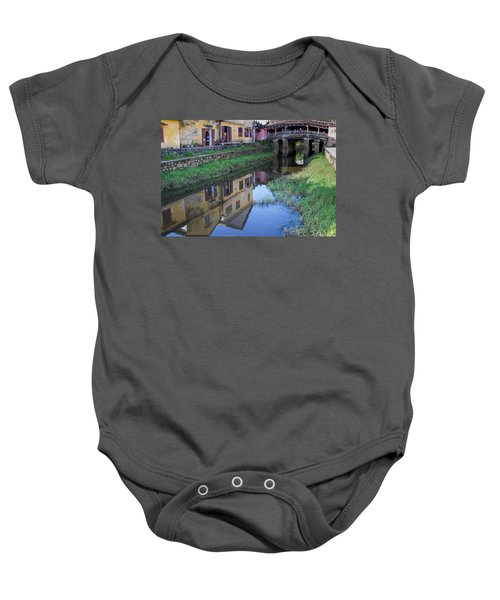 Baby Onesie featuring the photograph Chua Cau Reflection by Hitendra SINKAR