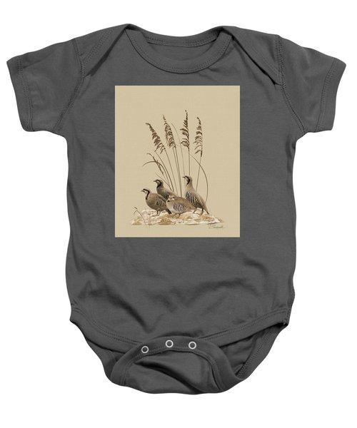 Chukar Partridges Baby Onesie
