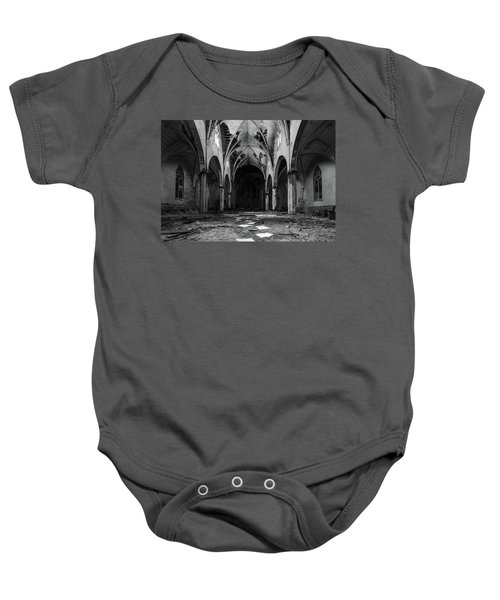 Church In Black And White Baby Onesie