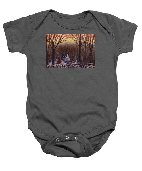 Church In The Woods  Baby Onesie