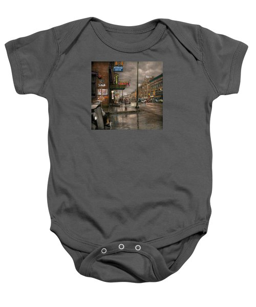 City - Amsterdam Ny -  Call 666 For Taxi 1941 Baby Onesie
