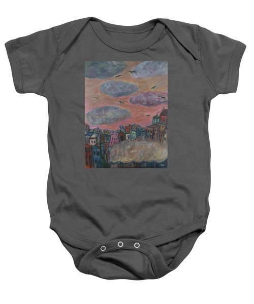 City Of Clouds Baby Onesie
