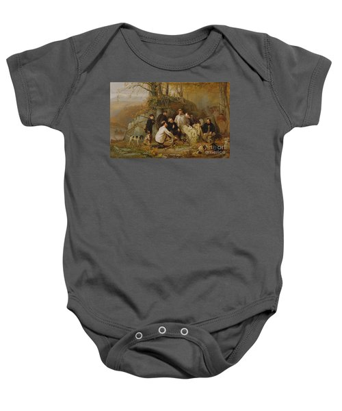 Claiming The Shot - After The Hunt In The Adirondacks Baby Onesie