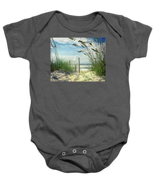 To The Beach Sea Oats Baby Onesie